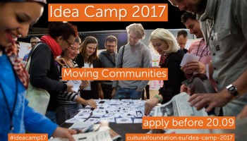 ¡Atención! Convocatoria de ideas para el Idea Camp 2017: Moving Communities