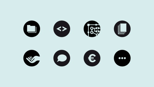 Look for these icons