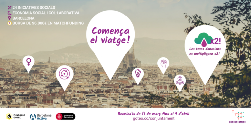 A wave of social projects arrives to Barcelona. The matchfunding #Conjuntament begins!