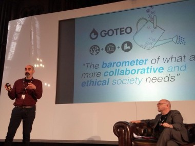 Goteo's civic crowdfunding at Future Everything 2015