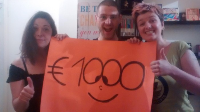 We have reached 1000 euros for our campaign!!!!