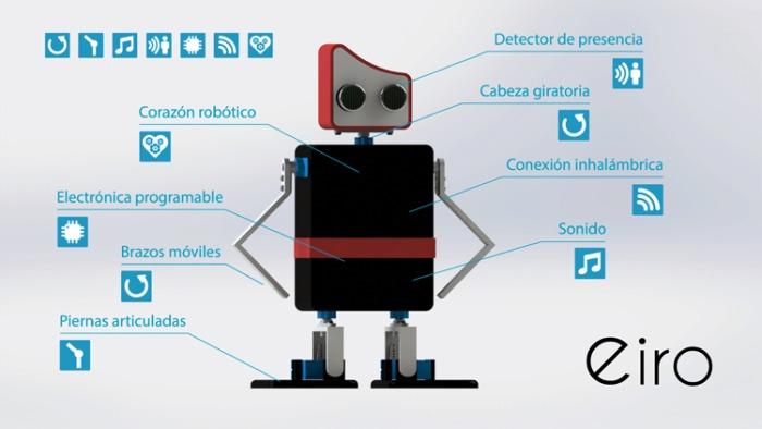 imagen eiro 03 - Eiro, robot educativo de código abierto compatible con Arduino